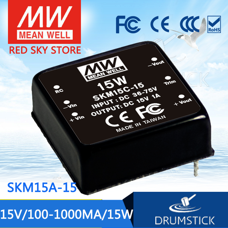цена на Advantages MEAN WELL SKM15A-15 15V 1000mA meanwell SKM15 15V 15W DC-DC Regulated Single Output Converter