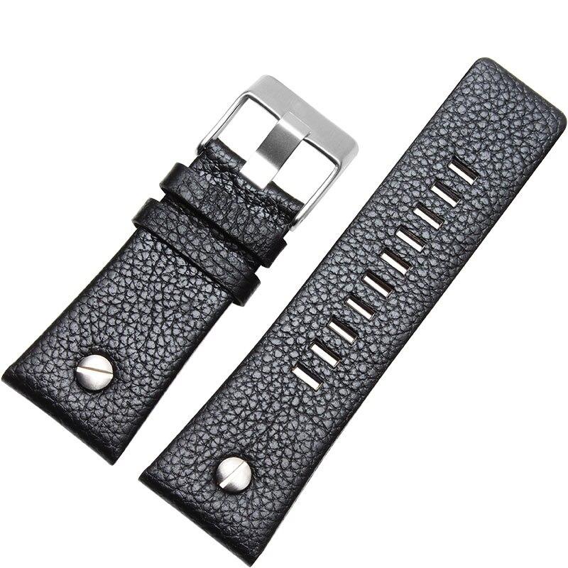 Diesel 24 26 28 30mm Genuine leather Watch Bands For Watch DZ7256 DZ7350 DZ7331 Men black watch strap Free tools Exempt postage