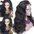 Natural High Ponytail 130 Density Glueless Full Lace Wigs Human Hair Loose Wave Full Lace Brazilian Virgin Wigs For Black Women