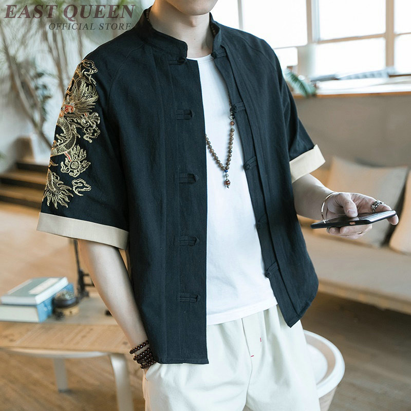Traditional chinese shirt casual loose tops blouse 2018 new arrival blouse traditional chinese clothing for men AA3868 Y A