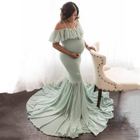 Sexy 2019 Pregnant Mother Dress Maternity Photography Props Women Pregnancy Clothes Lace Dress for Pregnant Photo Shoot Clothing
