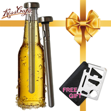 304 Stainless Steel Beer Chiller Sticks Whiskey Cooler Wine Ice Cubes Non-toxic Glacier Physical Frozen Beverage Barware Drink
