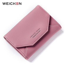 WEICHEN 2018 New Ladies Small Purse Wallet Envelope Shape Women Slim Wallet Hasp Coin Pocket Card Holder Female Carteira Purses