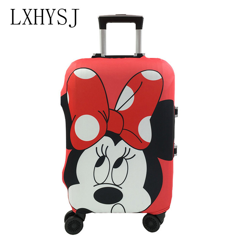 Minnie And Mickey Oattern Luggage Protective Cover For 19-32 Inch Trolley Suitcase Elastic Dust Cover Travel Accessories
