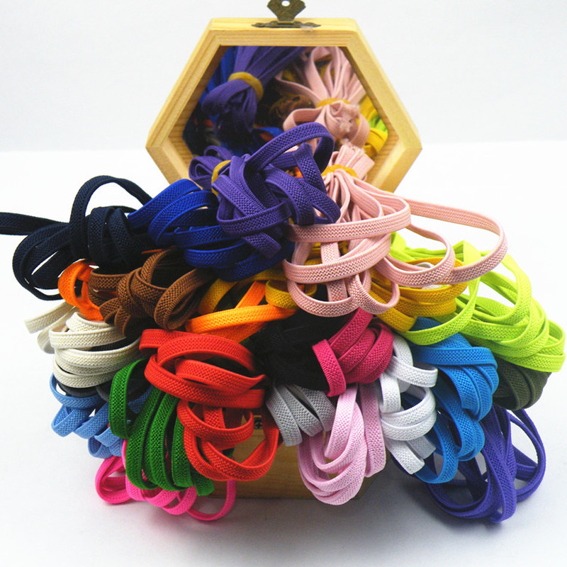 5m/roll 6mm Multi-color High-Quality Elastic Band Flat Rope Rubber Line Cord DIY Sewing Accessories