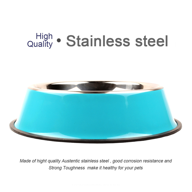 Non-slip Colored Stainless Steel Pet Bowls