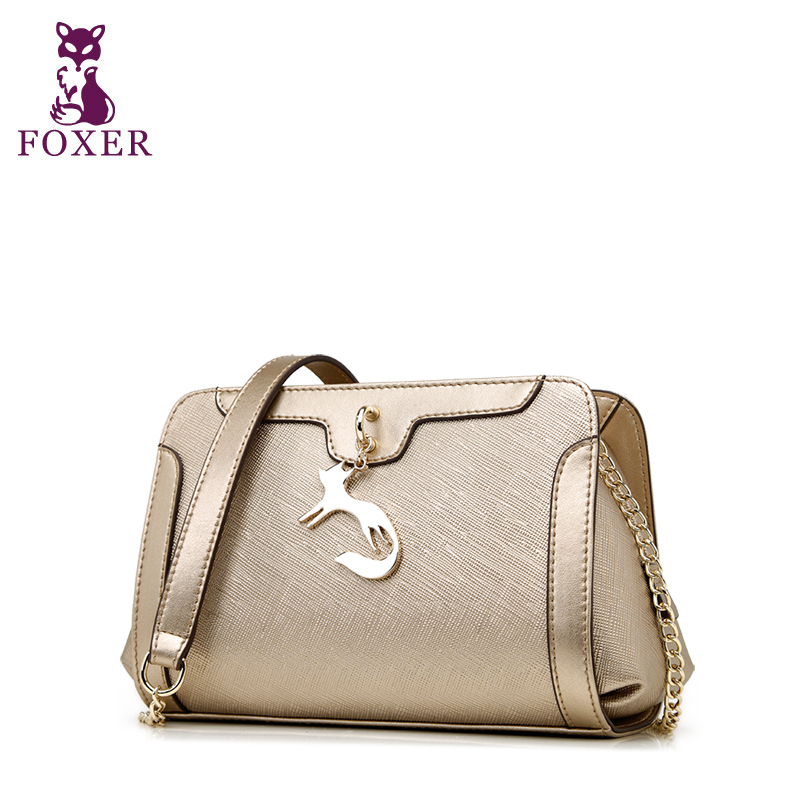 FOXER 2017 women messenger bags fashion shoulder bag split leather handbag ladies crossbody bag designer handbags high quality fashion matte retro women bags cow split leather bags women shoulder bag chain messenger bags