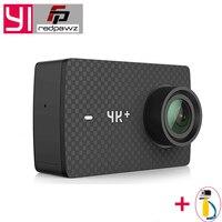 Международного спортивной экшн камеры Xiaomi YI 4 K плюс экшн Камера 2,19 'Ambarella H2 для SONY IMX377 12MP 155 градусов 4 K + спортивные Камера сенсорного экрана