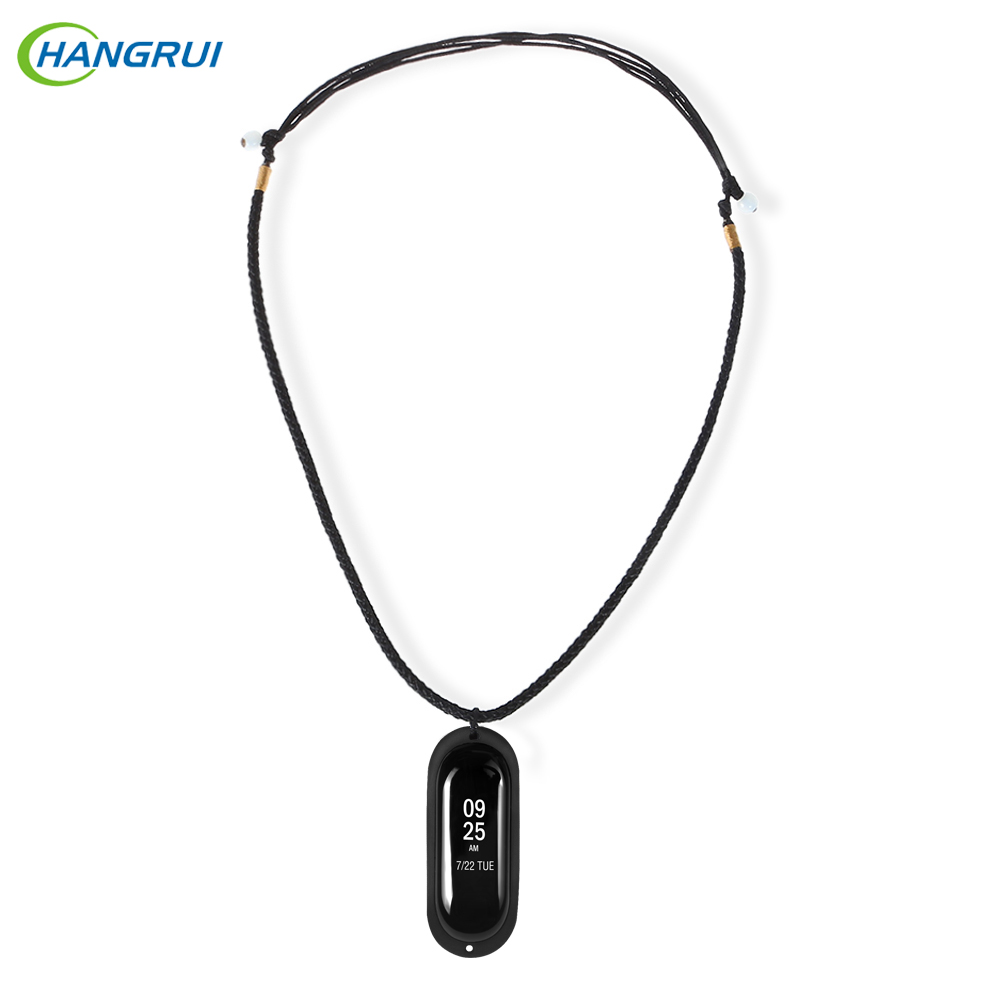 HANGRUI Silicone Protective Case for <font><b>Xiaomi</b></font> <font><b>Mi</b></font> <font><b>Band</b></font> <font><b>3</b></font> <font><b>Necklace</b></font> Carrier Pendant Case miband <font><b>3</b></font> tracker <font><b>MI</b></font> <font><b>3</b></font> DIY smart accessories image