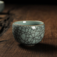 Chinese Celadon Tea Cup 1pcs Multi-colors Crack Effect Hand-made China Kung Fu Ceramic Cups KungFu Set A