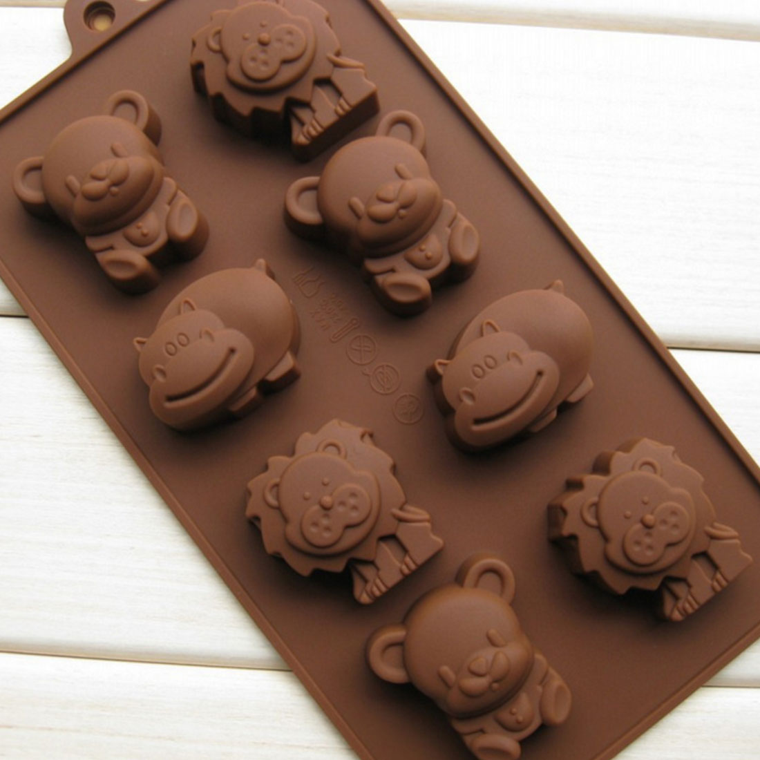 Hot 1PCS Hippo Lion Bear Shape Silicone Mold Jelly Chocolate Soap Cake Decorating DIY Kitchenware Bakeware