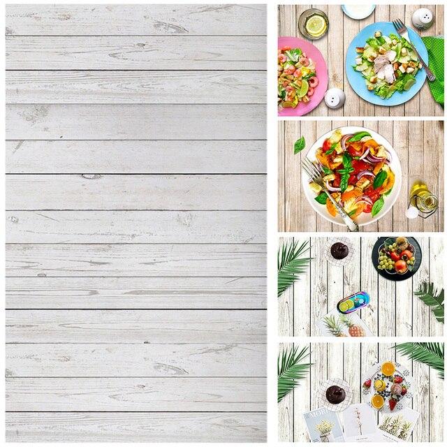 Alloyseed 0.6x0.9 m צילום רקע עץ לוח תפאורות בד שולחן שולחן תמונה סטודיו טלפון צילום אבזרי מזון
