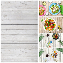 Alloyseed 0.6x0.9m Photography Background Wood Board Backdrops Cloth Desk Table Photo Studio Phone Photographic Props for Food