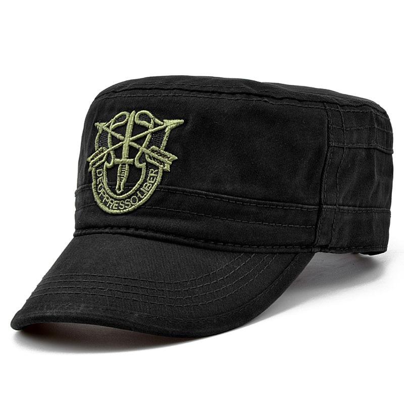 2d5a057d581da Militar del Ejército Gorras sombrero verde boinas Gorras en el aire Boina  visera sombreros para Hombre soldado Gorras Hombre francotirador sombrero  plano en ...