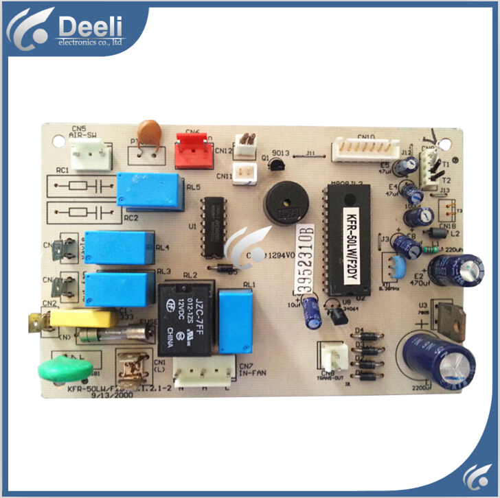 95% new good working for KFR-50LW/F2DY air conditioning board KFR-50LWF2DY.D.1.2.1-2 control board indoor air conditioning parts mpu kfr 35gw dy t1 computer board kfr 35gw dy t used disassemble
