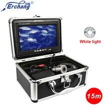 Erchang 15 м 7 «Экран HD 1000TVL подводный Камера для рыбалки с белый светодиодный бесплатная доставка