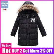 Jacket Parkas Cotton-Padded-Coat Russian Down Winter Children Fashion for Boy Korean