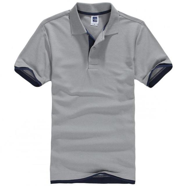 061a272c4e4 Pearl Cotton Short Sleeve Man T Shirt Double Color Collar High Quality  Camisa Barcelona 2017 Fashion Brand Men T Shirt