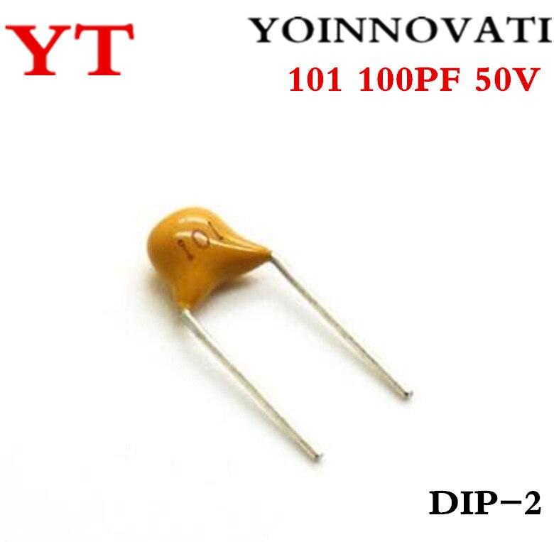1000 PCS CERAMIC CAPACITOR 101//50V 100pF 50V 101