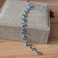 7.87'' Nazar Gift Turkish Evil Eye Bracelet Lucky Eye 8mm Crystal Blue Beads Jewish Arabic Islamic Women Protector