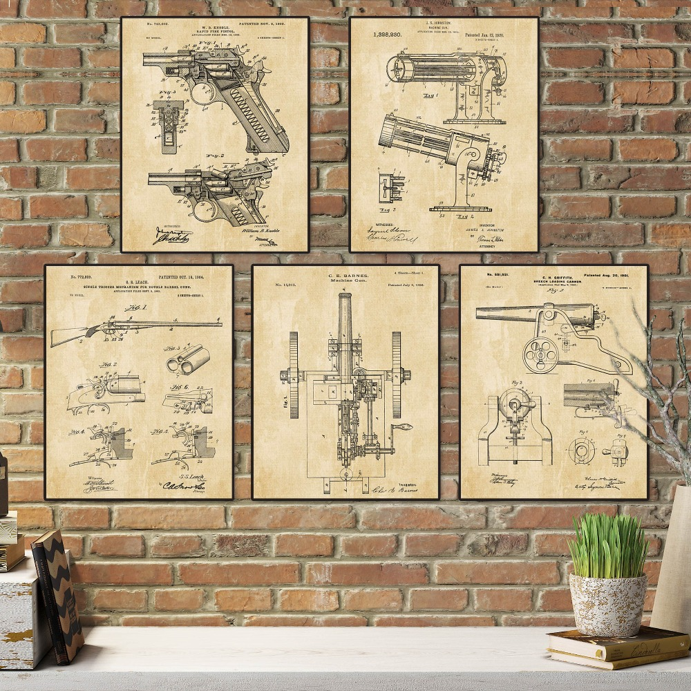 Vintage weapon guns and cannon sets 5 in 1 Train sketch up Nursery ...