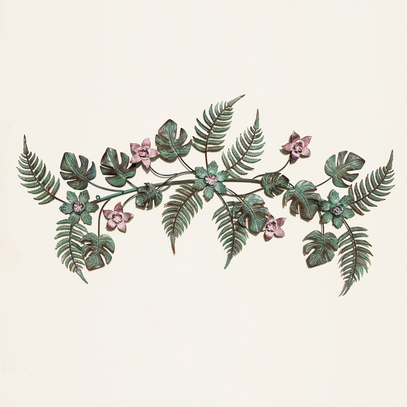 Американский кованого железа цвет завод цветок ТВ стены крыльцо настенные украшения висит Стикеры