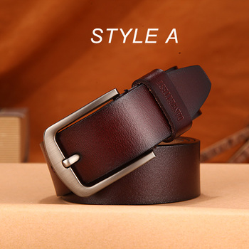 [DWTS]men belt male high quality leather belt men male genuine leather strap luxury pin buckle fancy vintage jeans free shipping 8