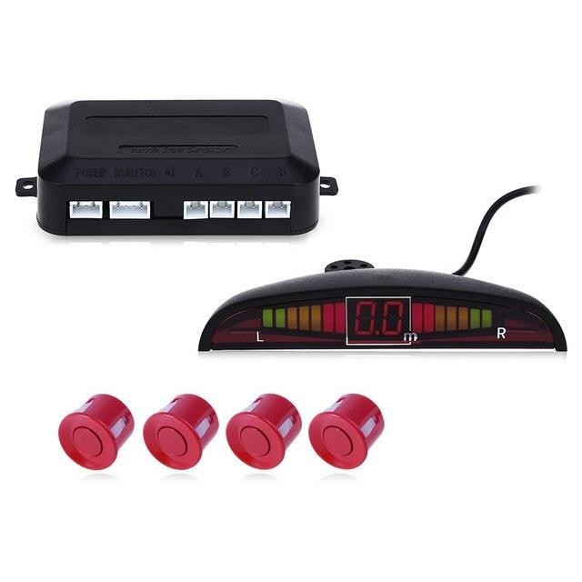 Universal Car Auto Parking Radar System Reverse Backup LED Display Buzzing Sound Warning Anti-freeze with 4 Parking Sensors