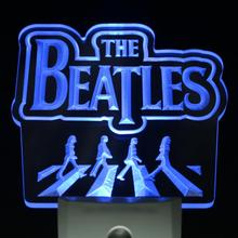 ws0063 The Beatles Band Music Logo Bar Day/ Night Sensor Led Night Light Sign