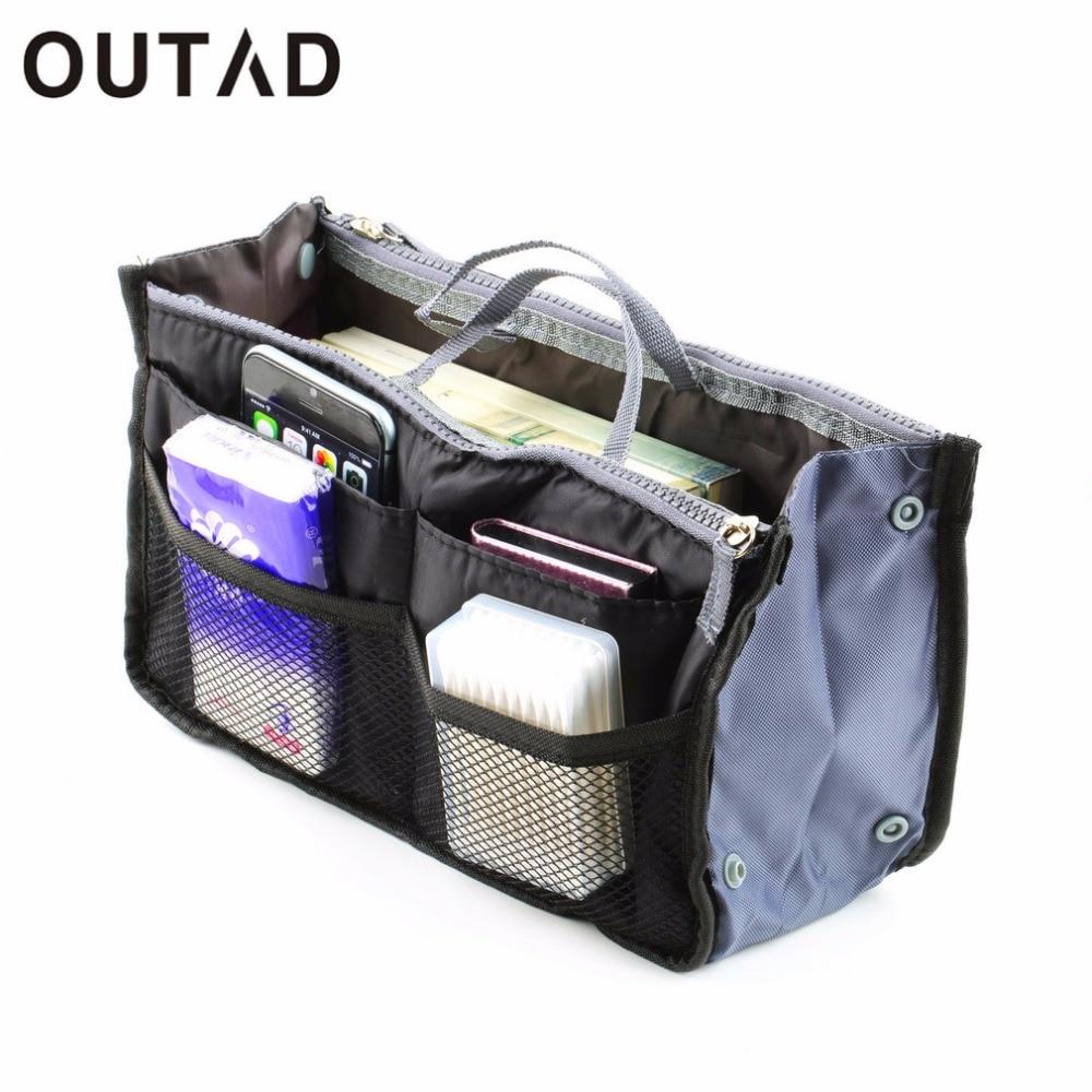 Portable Waterproof Nylon Storage Bags Women Multifunctional Cosmetic Makeup Bags Travel Organizers Insert Handbags DropShipping