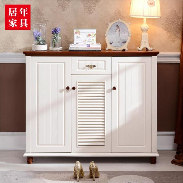 Stylish And Practal Tee Storage Hall Shoe Rack Shoe White Shoe Cabinet  Simple Low  Mass