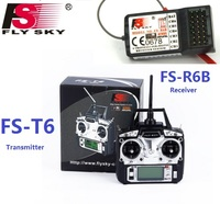 Flysky FS T6 FS T6 6ch 2.4g w/ LCD Screen RC Transmitter + FS R6B Receiver For Heli Plane For RC Drone Quadecopter Airplanes
