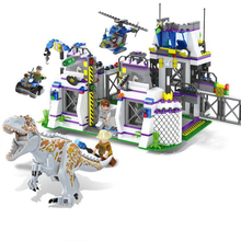 8000 Jurassic World Park Dinosaurs Base Tyrannosaurus Escape Building Blocks Bricks font b Toys b font