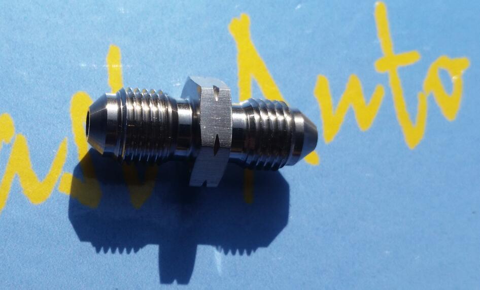 Переходник для тормозного шланга из нержавеющей стали an3 3an 3/8-24unf, размер резьбы М10*1,0 метрический, ptfe