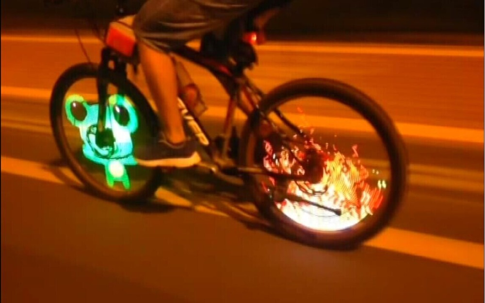 New Colorful Diy Bicycle 128 Led Programmable Flash Tire Valve