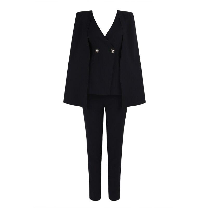 Partie Cape Clubwear Festa Salopette Noir 2019 Célébrité Bouton Manches Blanc Longues En Solide Moulante Col Nouveau À Mode Femmes V nTZpqUA