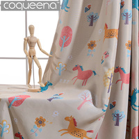 Cute Cartoon Curtains For Kids Bedroom Living Room Children Baby Boy Girls Room Blackout Nursery Curtains
