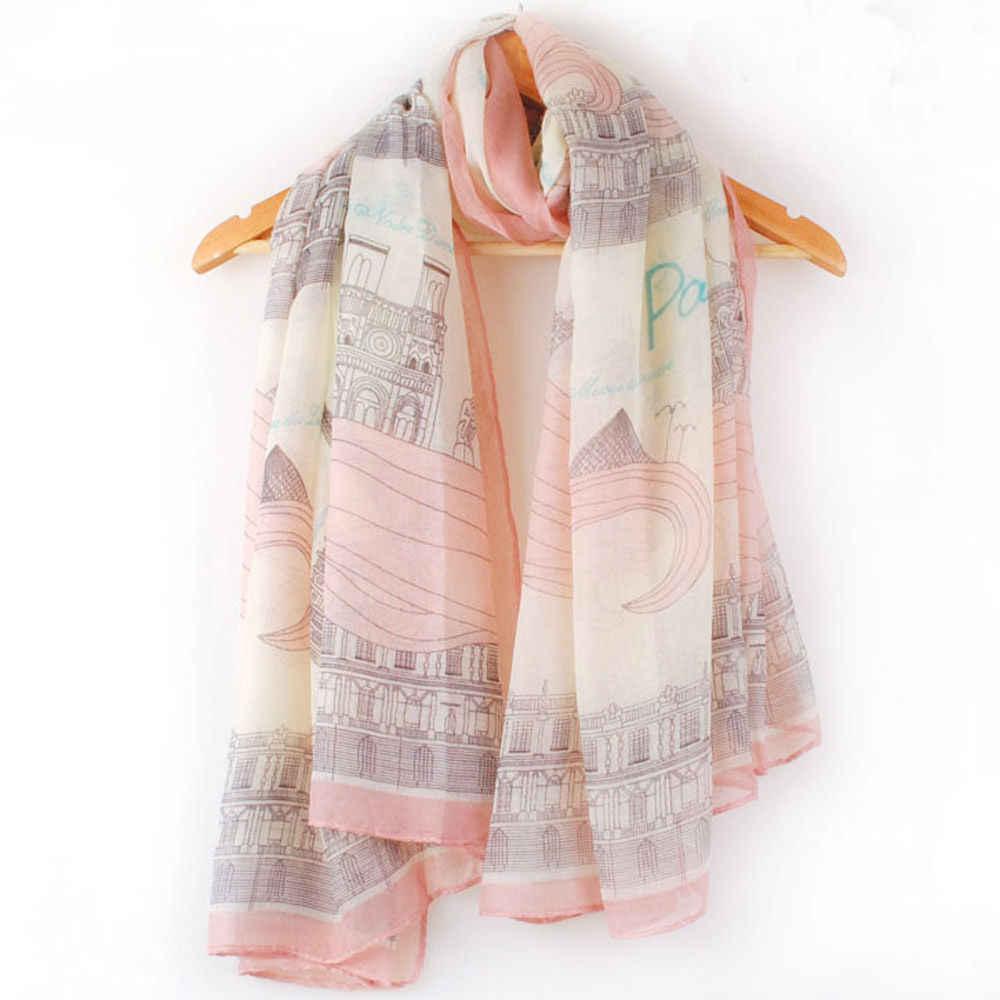 Gran oferta 1 pieza nueva señora Vintage mujer largo suave gasa de algodón estampado bufanda chal para envolver bufanda mujer para mujer playa estolas bandana