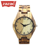 2017 ZAZAC Full Bamboo Wood Watches Fashion Bamboo Clock Wooden Wristwatches Men Luxury Watch Relogio Masculino