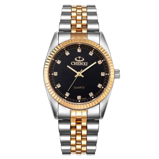Gold Watch Men Fashion Sports Quartz Full Steel Gold Business Mens Watches Top B