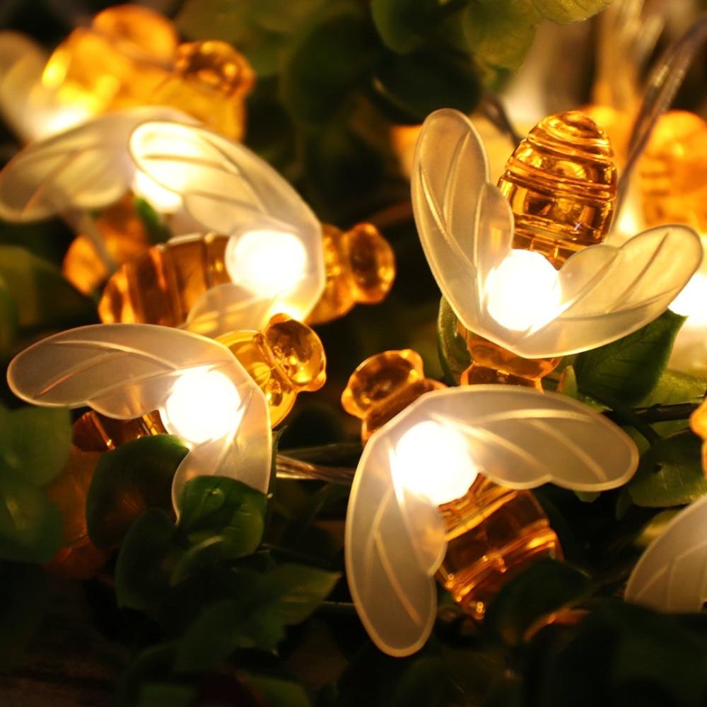 Творчески 10 LED Bee Shape Светещи Фарове - Празнично осветление - Снимка 2