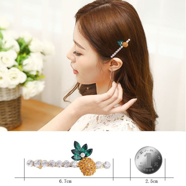 1 PCS Hot sale Women Crystal Rhinestone Pineapple Head Rope Hair Clip Claw Hairpin  Fashion Jewelry barette cheveux fille 96e534dc38f5
