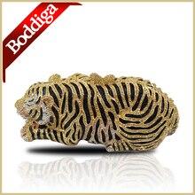 Tiger Kristall Clutch Bag Abendtaschen Clutch Abendtasche Hohe Qualität frauen Handtaschen mini handtasche splitter/goldene umklammert #006