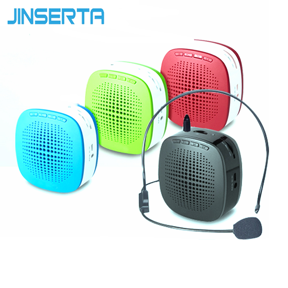 JINSERTA Mini Portable Voice Portable Speaker Amplifier MP3 Player with USB Cable/Microphone waitband for Teaching Tour Guide