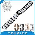 18mm 20mm 22mm correa de reloj de cerámica para mido butterfly buckle wactchband reemplazo correa de pulsera pulsera de la correa negro oro blanco