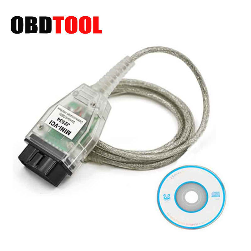Ultime V13.00.022 MINI VCI Interfaccia PER TOYOTA TIS Techstream minivci FT232RQ Chip J2534 OBDII OBD2 Strumento Diagnostico JC10