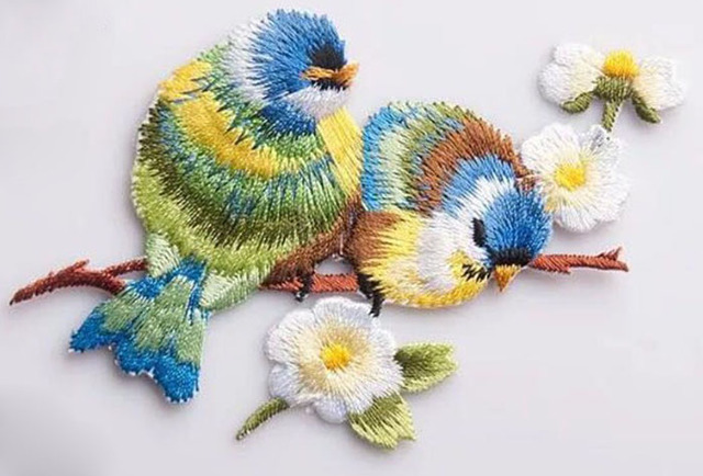 DIY Embroidery Birds Iron On Patches