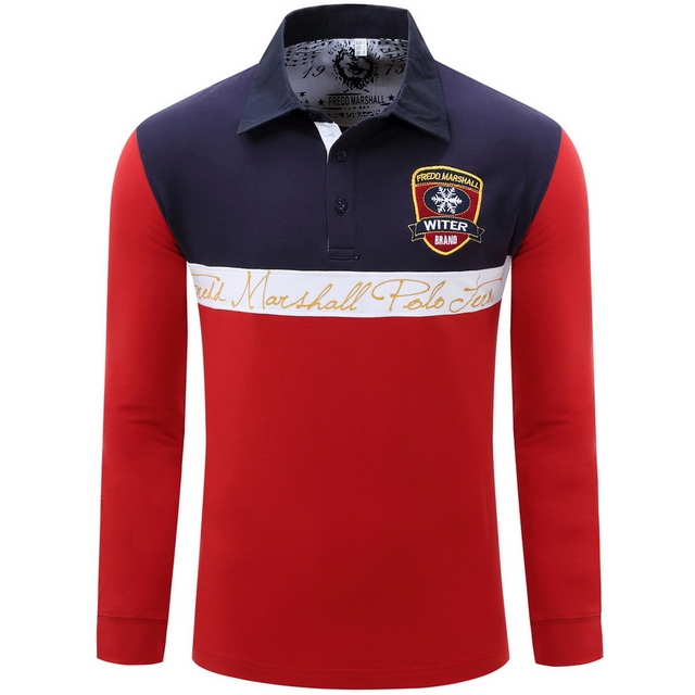 2016 New Camisa Polo Masculino Autumn Designer Brand Fashion Men Polo Shirts T0077
