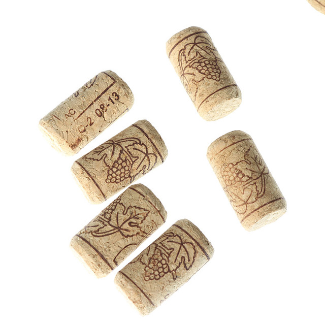 15pcs Wine Cork Cork Supply Sealing Cloth Oak Wine Cork Wine Bottle Stopper Bar Tool Bottle Closure Wooden Sealing Cover