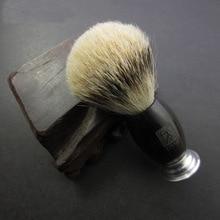 100% Ebony Handle Titan Men Shaving Brush Silvertip Badger Brushes Pincel Badger Hair Knot Brocha De Afeitar Pennello Da Barba
